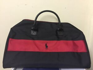 01764af128d4 Ralph Lauren Polo Black   Red Weekend  Travel  Gym  Holdall  Duffle ...