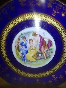 Lovely-9-1-2-039-039-plate-featuring-3-maidens-in-a-garden