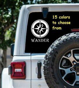 7-Sizes-Wander-Compass-Car-Window-Decal-Sticker-Laptop-MacBook-Computer-Wall
