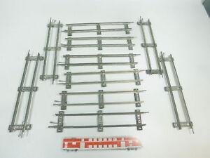 BK335-1-10x-Maerklin-Spur-0-Gleis-Gleisstueck-gerade-26-cm-fuer-Uhrwerk-Betrieb