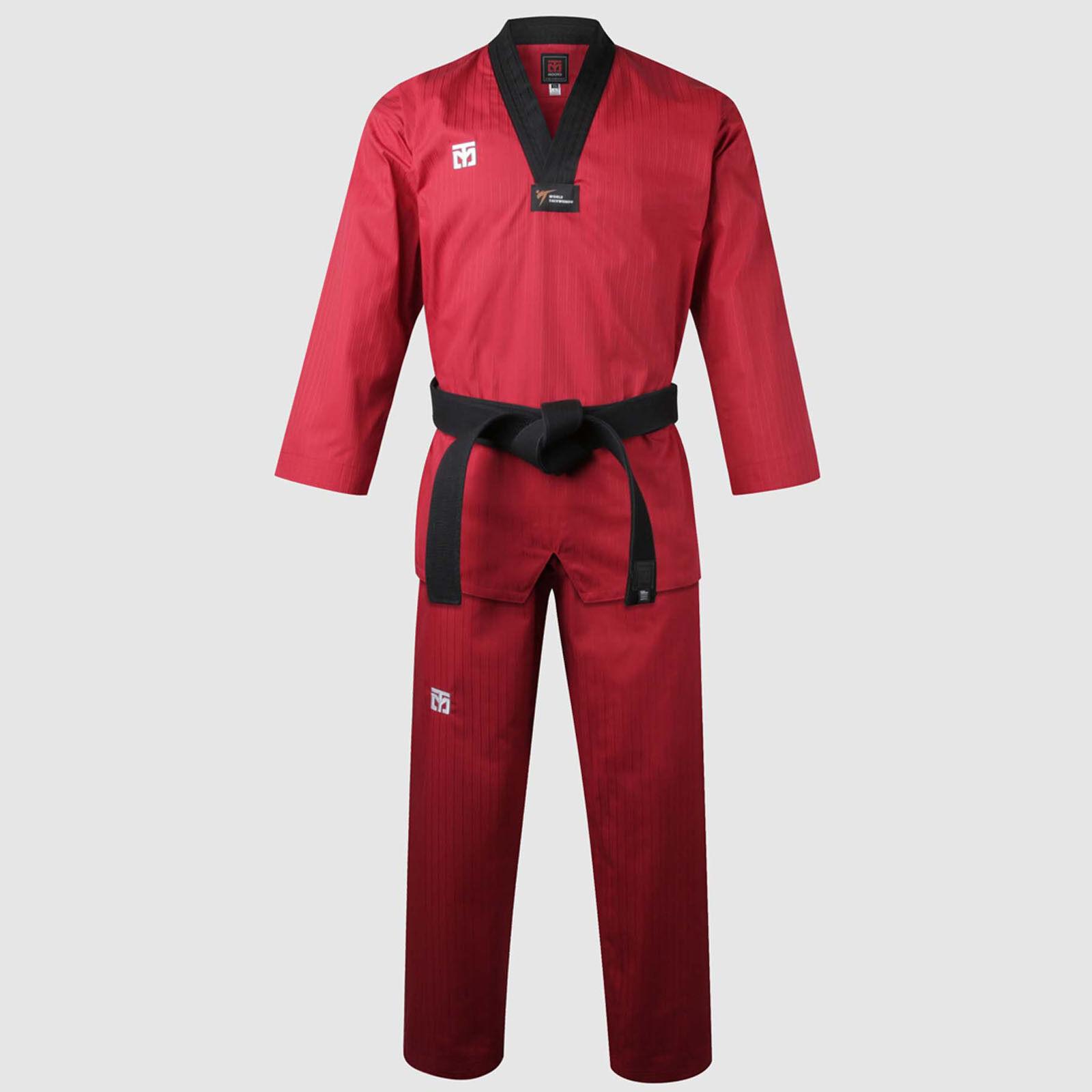 Taekwondo Red colord Uniforms Mooto BS4.5 New WT Logo Doboks Suits Martial Arts