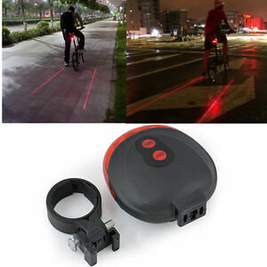 Set 2 Ps LED Bicycle Lights Red Beam Rear Cycle Bike Back Tail Lamp With Battery