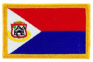 Patch-bestickter-Aufnaeher-Flagge-Sankt-Martin-Marteen-zum-Aufbuegeln-Abzeichen