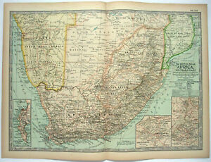 Southern-Africa-Original-1897-Map-by-The-Century-Company-Antique-Map