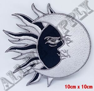 Yin Ying And Yang Sun Moon Black Embroidered Patch Iron On Ebay