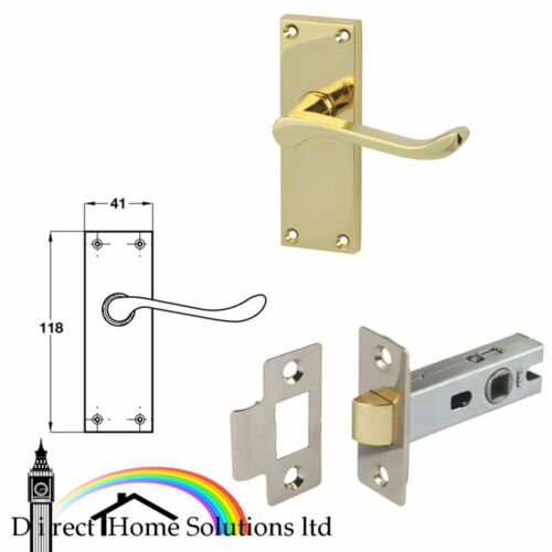 Victorian Scroll lever handles with backplates for latch latch bolt zinc alloy
