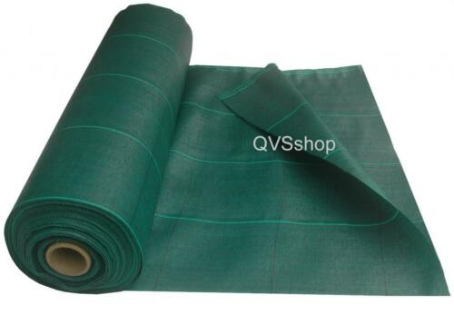 2m x 50m Green Weed Fabric Extra Heavy Duty Roll 125gsm Sheet Gardens