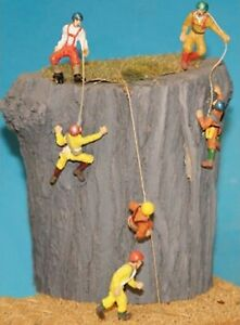 6-Rock-Climbers-F150-UNPAINTED-OO-Scale-Langley-Models-Kit-People-Figures-1-76
