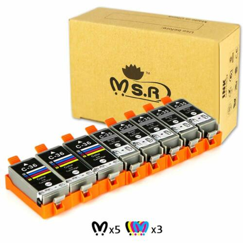 Ms compatible for can r compatible ink cartridge for canon pgi-35 cli-36