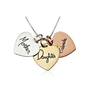 Mutter-Und-Tochter-Fuer-Immer-Immer-Freunde-Gold-Halskette