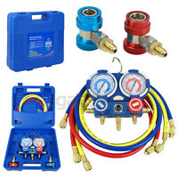 A/c Manifold Gauge Set R22 R134a R410a Refrigeration Kit Brass Auto Serivice Kit