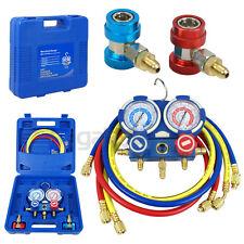A/C Manifold Gauge Set R22 R134a R410a Refrigeration Kit Brass Auto Serivice Kit