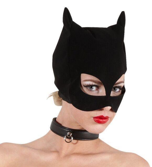 Bad Kitty Extravagante Gothic Kopf-Maske im Cat Look schwarz