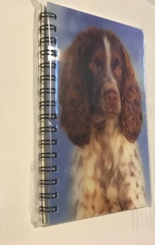 English Springer Spaniel notebook with amazing 3D picture on the cover 50 pages
