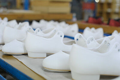 Mädchen Damen weißer PU NIEDRIGE ABSATZ, Stepptanz Schuhe alle Größen von Katz