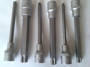 1-2-Zoll-Steckschluessel-Nuss-Torx-extra-Lang-200-mm-T60-T70-ohne-Bohrung