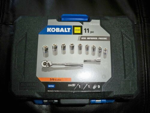 NEW Kobalt 11 pc 3//8 inch drive METRIC Socket Set