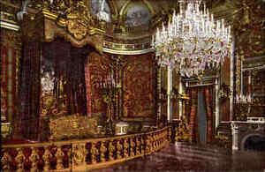 Chiemsee Herrenwörth Schloss Herrenchiemsee AK ~1910 Paradebett im ...