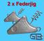 2-x-Federjig-Schraub-Jigkopf-10g-50g-Jighaken-fuer-Gummifische-Spiral-Jig