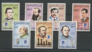 W0847-GUINEA-BISSAU-1988-CHESS-MI-974-80-SET-MNH-UM-SEE-SCAN
