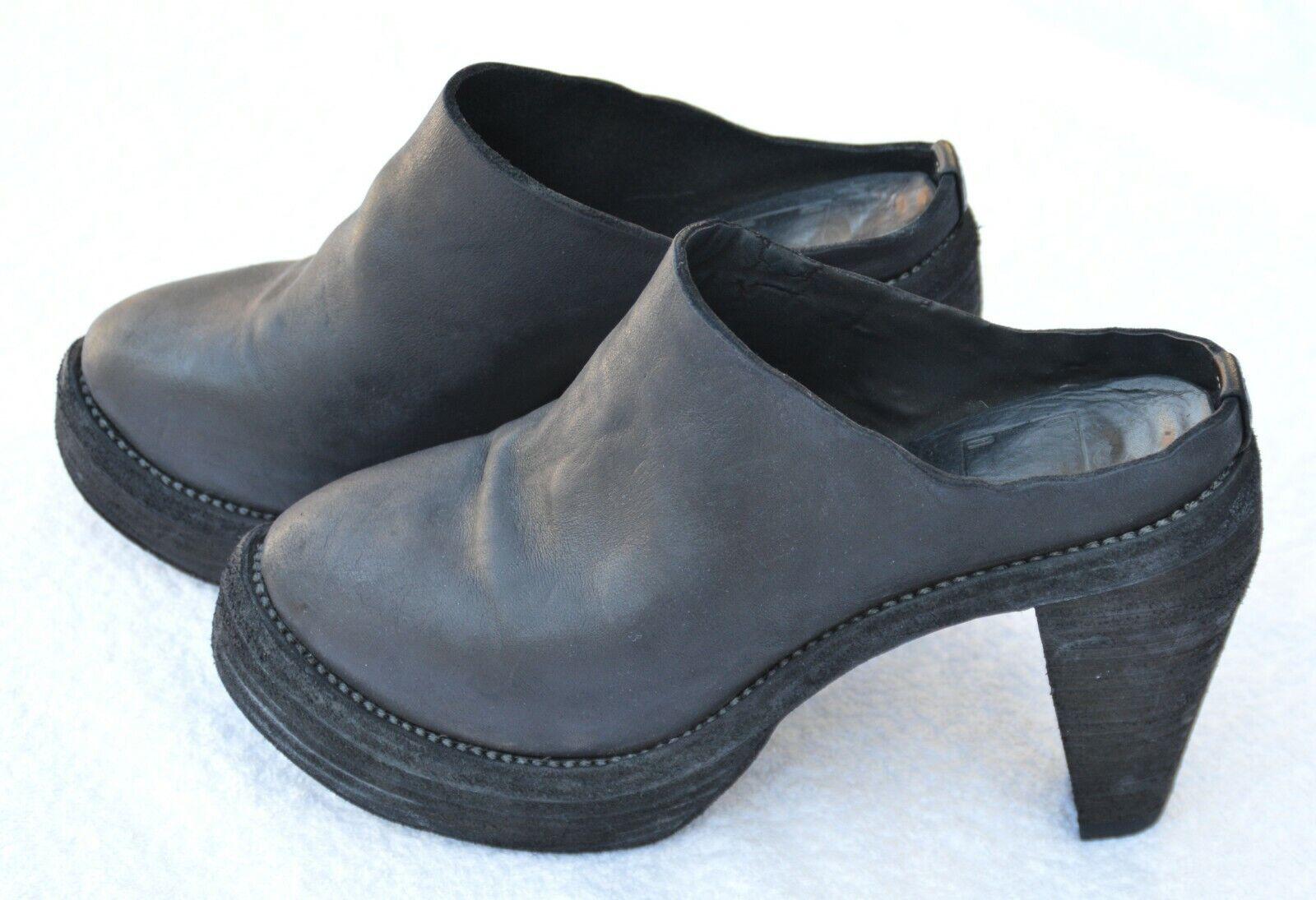 GUIDI Clogs Platform schwarz horse leather Größe 37    | Sale Deutschland