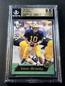 TOM-BRADY-2000-PRESS-PASS-37-GOLD-ZONE-FOIL-PARALLEL-ROOKIE-RC-BGS-9-5-GEM-MINT