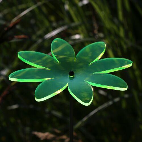 Vetro acrilico sole scatenala Fioritura Fiore 14cm NEON trasparente fosforescente