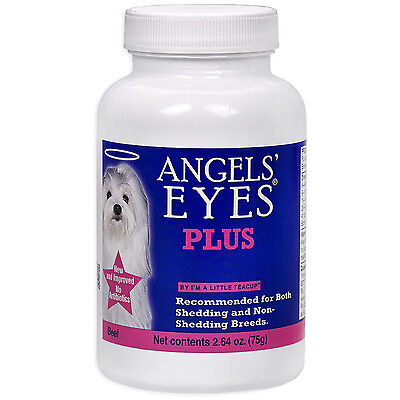 ANGELS EYES PLUS BEEF FOR DOGS TEAR STAIN REMOVER ELIMINATOR ANGEL'S