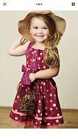 Nicoletta Dress Matilda Jane Size 4 Friends Forever W/ Polka Dots Very Sweet