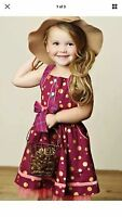 Nicoletta Dress Matilda Jane Size 4 Friends Forever W/ Polka Dots Very Sweet