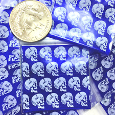3 Mil 1515 15 X 15 100 Mini Zip Lock Design Bag Skull White On Pearl Blue