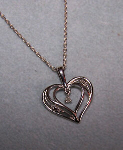3c97443cb9d99 Kay jewelers Kays double Heart DIAMOND sterling silver Pendant ...