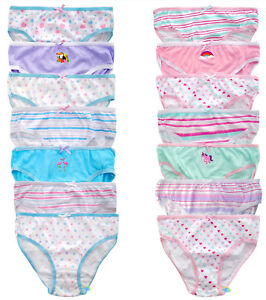 Girls-7-Pack-Briefs-Pants-100-Cotton-Size-2-3-3-4-5-6-7-8-Colourful-BNWT