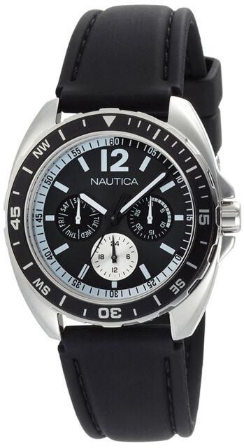 Nautica Men's Sport Ring Black Box Set Watch N09910G