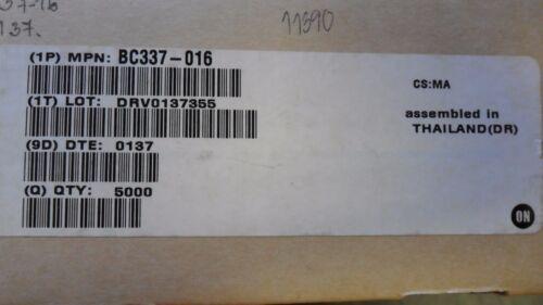 TRANSISTOR BC337-016 NPN 45V 0.8A 3-PIN TO-92 20 PER LOT