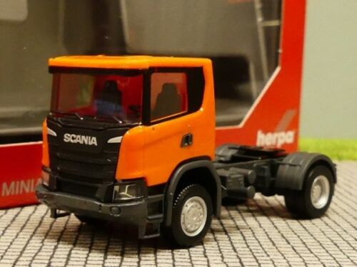 1//87 Herpa scania CG 17 4x4 tractor naranja 309776