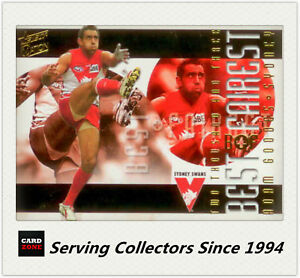 RARE-2004-Select-AFL-Ovation-Trading-Card-Best-amp-Firest-Card-BF-4-Adam-Goodes