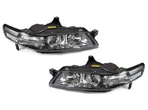 DEPO JDM Black Housing Clear Corner Projector Headlights For - 2005 acura tl headlights