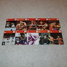 Sportscaster Card Lot of 10 Boxing Cards - Muhammad Ali Floyd Patterson Used/VGC