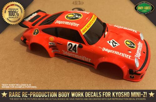 "Kyosho Mini-Z Porsche 934 /""JAGGERMEISTER/"" Auto Scale Body RC Decal Stickers R//C"