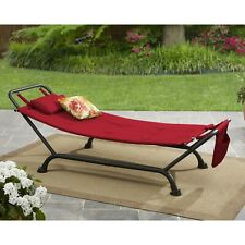 Outdoor Patio or Garden Mainstays Wentworth Deluxe Hammock with Stand Brown