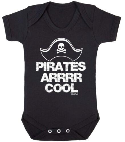 Piratas arrrr cool funny Chicos Chicas Babygrow Bodysuit Chaleco Ropa de bebé recién nacido