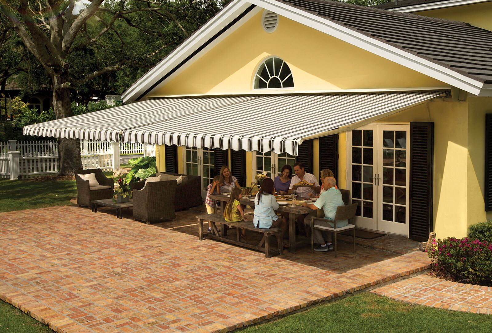 SunSetter Motorized Retractable Awning 18 x 10 ft. Deck ...