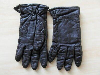 Damen Leder Handschuhe Braun Neu