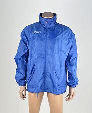 Asics Para Hombre Corriendo resistente al agua con capucha ligera Windbreaker Azul Talla Xl