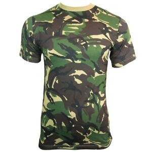 British-DPM-Camouflage-T-Shirt-100-Cotton-Army-Military-Top-All-Sizes-New