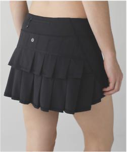 NEW Lululemon Run Pace Setter Skirt Size 4 Black Swift