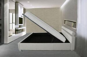 Letti Contenitore Design : Letto contenitore matrimoniale con doghe letti design moderno