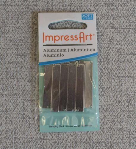 Livraison Gratuite NOUVEAU impressart Aluminium 38 x 6.4 mm Rectangle bande blanc 15 pièces