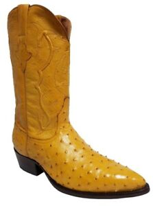 22a216d21c9 Mens Buttercup Full Ostrich Skin Leather Cowboy Boots J Toe Size 12 ...